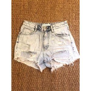 ZARA Distressed Shorts